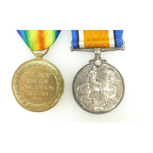 1107 - Pair WWI medals - 806413 - GNR . W H. Smith R.A,...