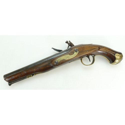 1109 - Geo. III Flintlock Light Dragoon style holster piston by Ryan & Watson, late 18th century....