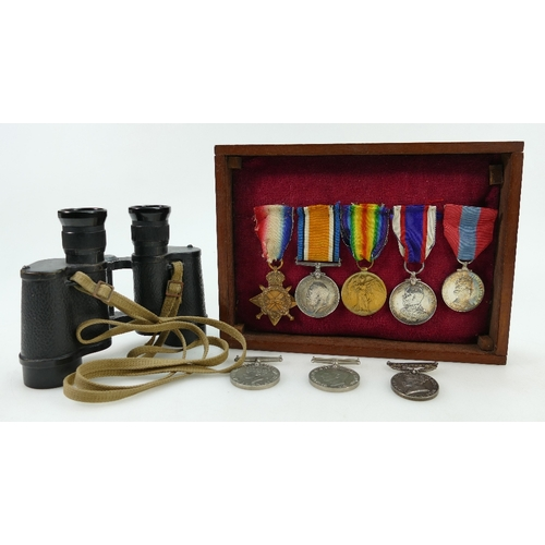 1113 - WWI Royal Navy medal group of 5 medals - Trio plus Royal Fleet Reserve long service & good conduct m...