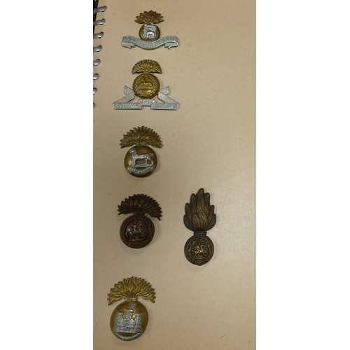 1115 - Large collection of 138 UK military cap badges, together with 11, obviously modern badges, in 6 albu...