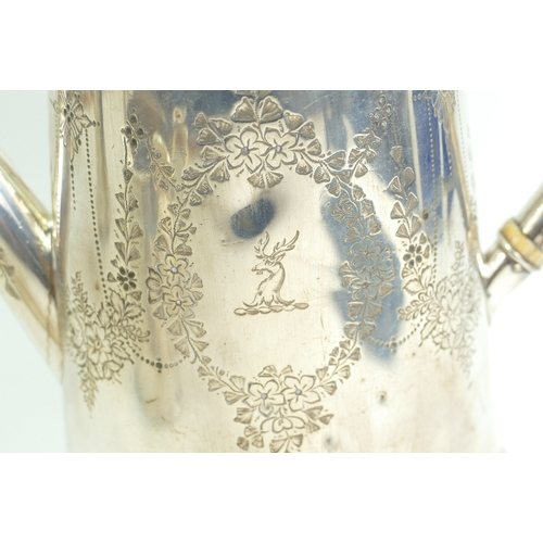 1152 - A Victorian Silver five piece tea & coffee set 2506 grams, presented to James Vardon in 1872, by the...