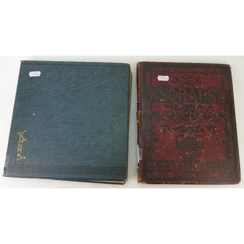 156 - Two albums of Victorian and early 20th century SCRAPS of wide and varying subjects....