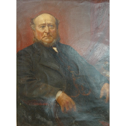 832 - Victorian Oil on Canvas portrait, unsigned in gilded frame 46cm x 37cm...