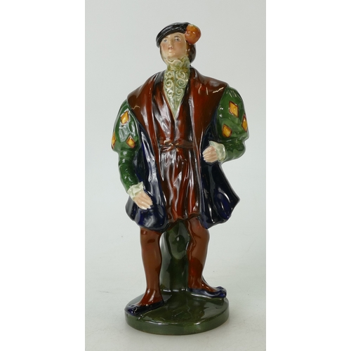 412 - Royal Doulton rare figure Sir Thomas Lovell (Henry VIII HN356), signed C.J.Noke (good restoration to...