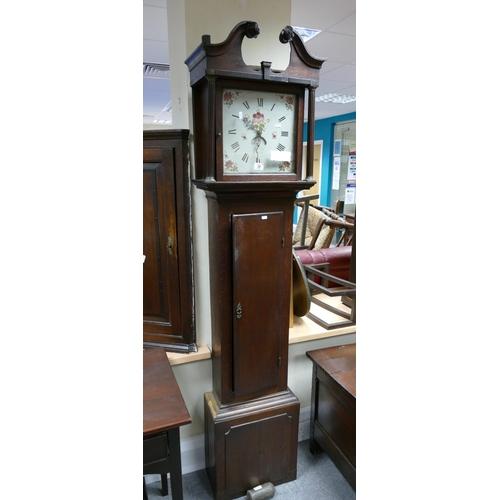 34 - 20th Century Mahogany long cased clock....