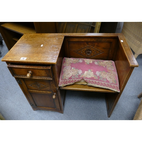 56 - Unmarked but presumed old charm hall/ telephone chair...