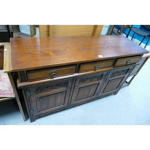 53 - 20th Century old charm three over three sideboard...