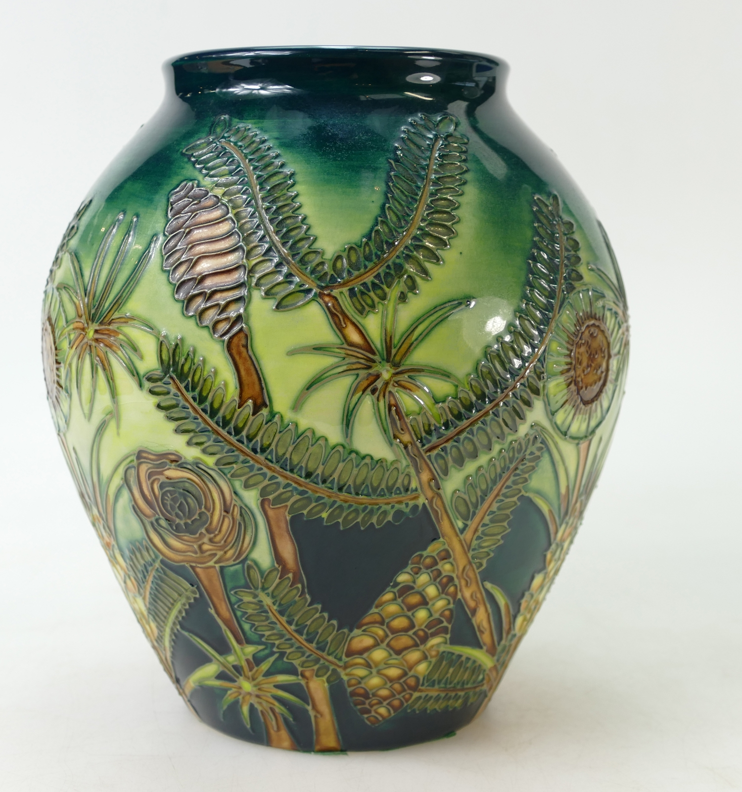 Moorcroft vase decorated in the Amazon Twilight design 1998
