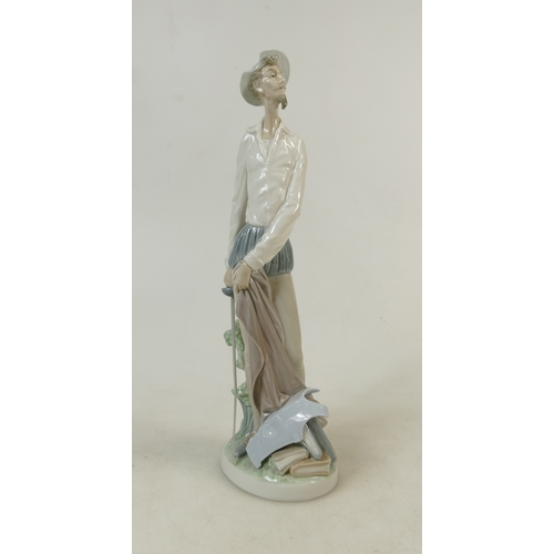 12 - Lladro figure titled 'Don Quixote Standing with Sword': LLadro model 4854, height 31cm....