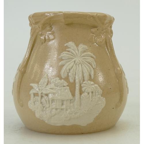 36 - Spode scarce Jamaica pot: Pot issued as a 'souvenir series 1' measures 2cm x 6cm high approx....