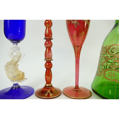 44 - A collection of quality Italian Art Glassware: Glassware to include 3 x La Fenice, 2 x Griffe & a Ve...