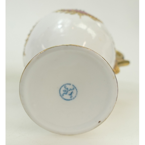 45 - Japanese Noritake porcelain raised gilt decorated coffee set: Coffee set with hand decorated panels ...