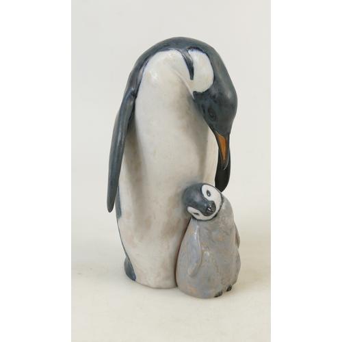 9 - Lladro matt glazed figure titled 'Penguin Love': Penguin model 2519, height 23cm....