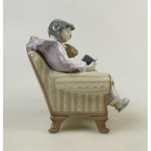 16 - Lladro figure titled 'Big Sister': Lladro model 5735, height 18cm....