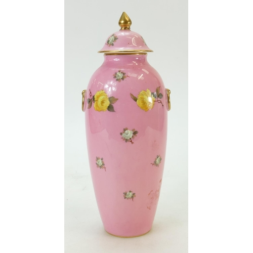 25 - Cauldon lidded vase: Cauldon vase - Brown Westhead and Moore 24.5cm high c1900....