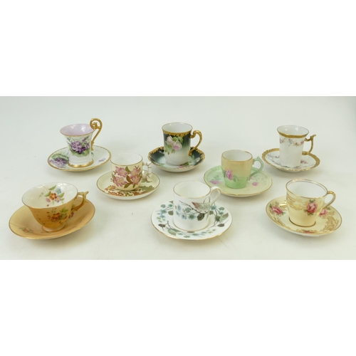 46 - A collection of early 20th century Coffee Cups and Cans: Items to include - Royal Worcester Blush Iv...