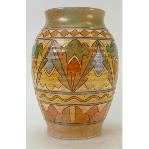 55 - Charlotte Rhead vase: H J Wood vase by Charlotte Rhead in TL1 design, height 21cm....