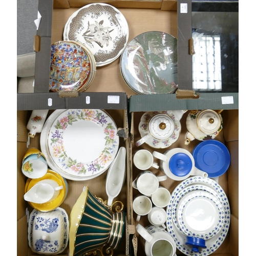 11 - A mixed collection of items to include: Midwinter Floral part tea set, decorative wall plates etc (3...