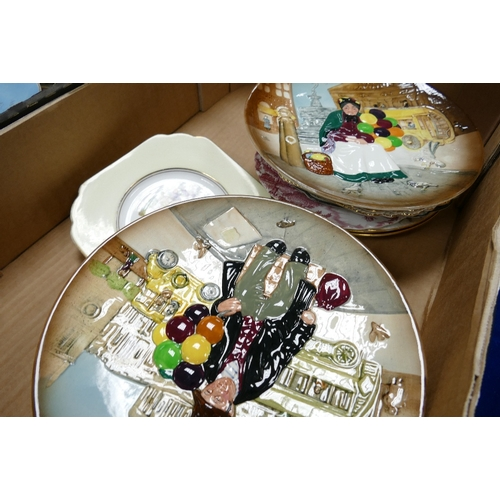 20 - A large collection of decorative wall plates to include: Royal Doulton Balloon plates, similar Aynsl...