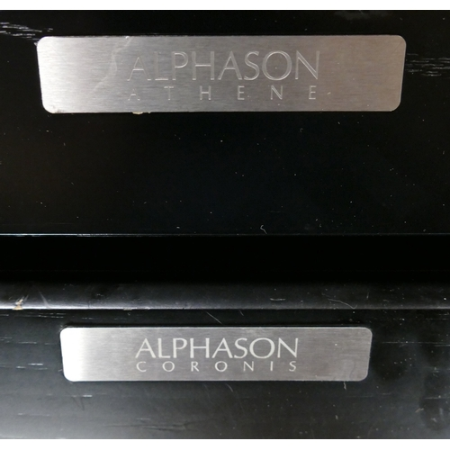 10B - Alphason Athine & Coronis Pre and Power Amplifiers(2):...