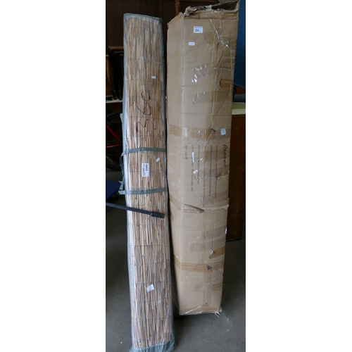 5E - 6 x 3 x 2 meter Boxed Poly Tunnel: together with large wicker screen(2)...
