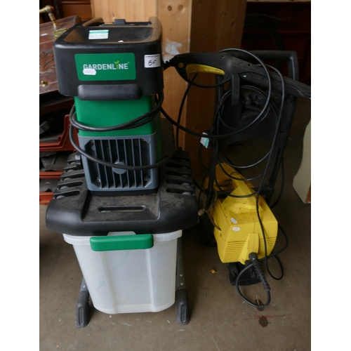 5F - Garden Line Branded Mulcher: together with Karcher 411A Pressure washer(2)...
