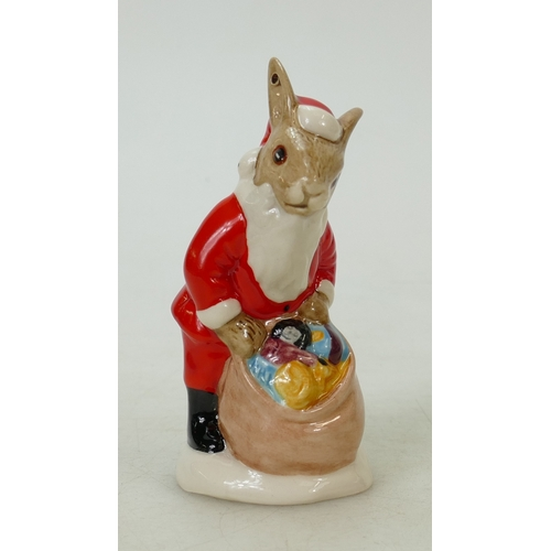 14 - Royal Doulton Bunnykins figure Santa: Royal Doulton ref DB62 Christmas tree ornament (Boxed)...