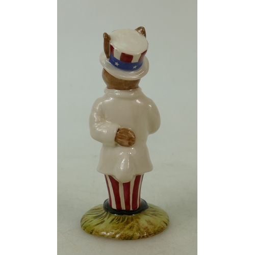 15 - Royal Doulton Bunnykins figure DB50: Uncle Sam, in a white colourway by Royal Doulton. (Boxed)...