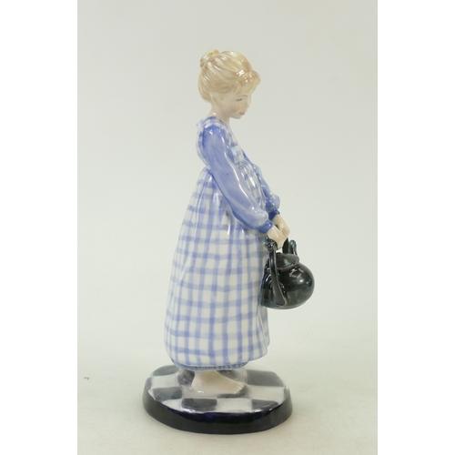 24 - Royal Doulton prototype colourway figure: Royal Doulton prototype figure Polly put the kettle on HN3...