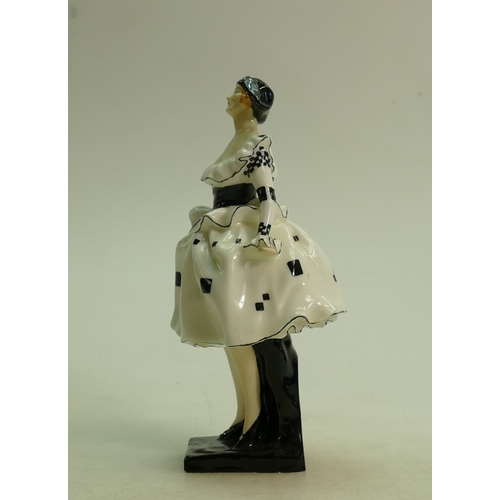 27 - Royal Doulton figure Harlequinade HN711: Early figure dated 1928. (good restoration to neck and hair...