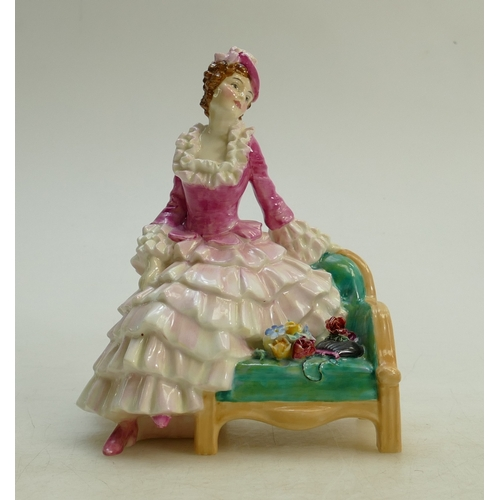 30 - Royal Doulton figure Sonia HN1692: Early model dated 1935. (slight loss to flower edge and small hai...