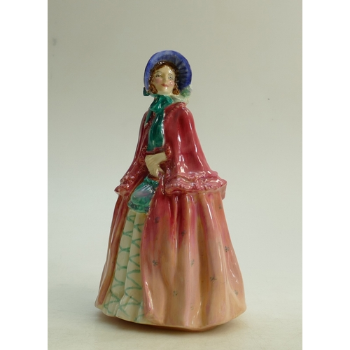 32 - Royal Doulton figure Millicent HN1714: Early model dated 1935. (restored neck and hairline crack acr...