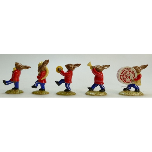 8 - Royal Doulton Bunnykins Figures from the Oompah Band: Figures in a red colourway comprising Sousapho...