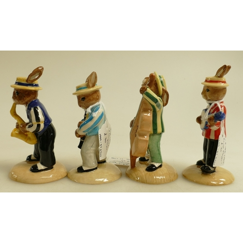 9 - Royal Doulton Bunnykins Figures from the Jazz Band Collection: Figures comprising  Clarinet Player D...