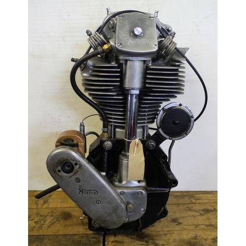 1948 Manx Norton 500cc engine  Magnesium crank cases, Lucas
