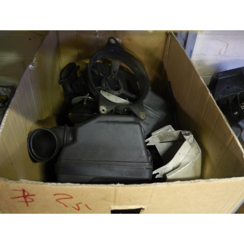 25 - Box of motorcycle auto jumble...