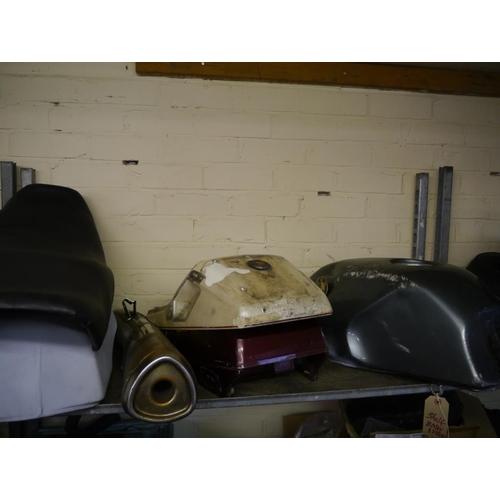 30 - Shelf of BMW K75 spares...