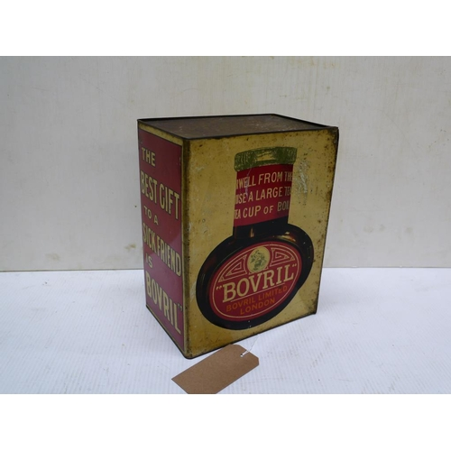 13 - Large advertisement tin for Bovril...