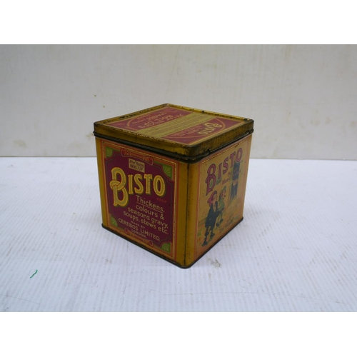 14 - Early large Bisto tin, depicting