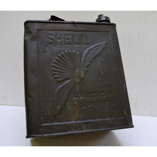 30 - Two gallon shell aviation spirit can...
