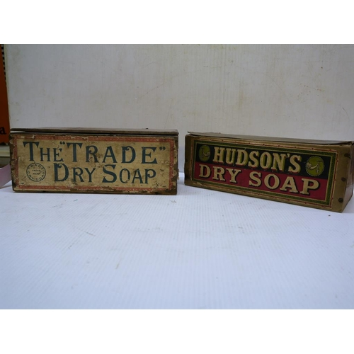4 - Hudsons dry soap box and a The trade dry soap box...