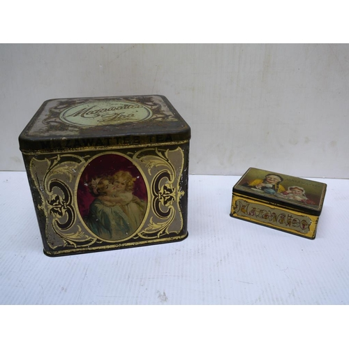 5 - Two Mazawattee tea tins...