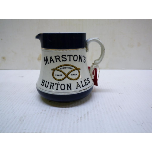 6 - Advertising water jug, Marstons Burton ales by TG Green, Church Evesley....