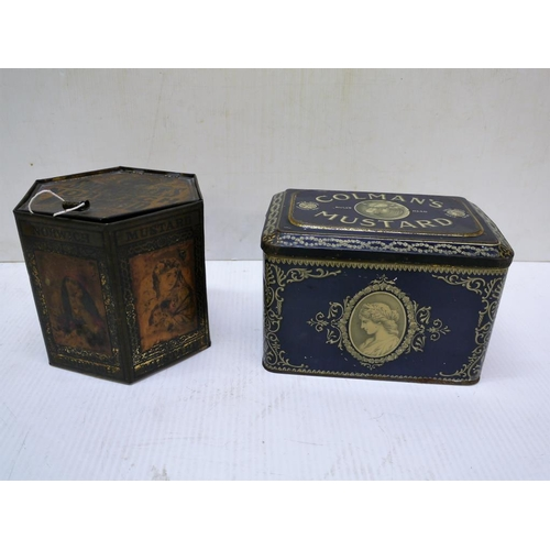8 - Colmans mustard tin and rare early Smithdales Norwich mustard tin...