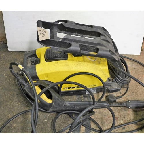 322 - Karcher electric pressure washer...