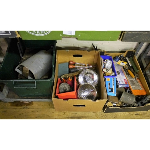 347 - 3 Boxes of miscellaneous tools...