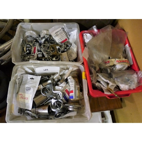11 - 3 Boxes of exhaust clamps...