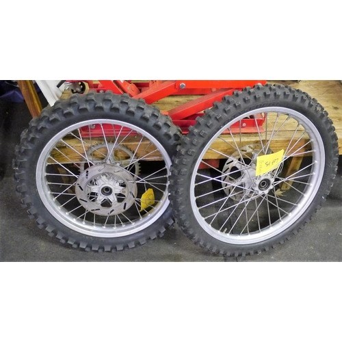 17 - 2 KTM wheels and tyres...