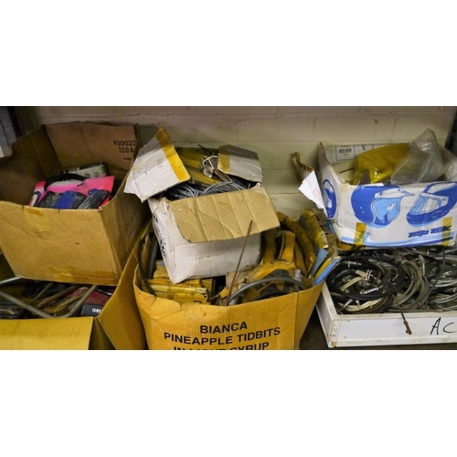 25 - Shelf of NOS cables and spares...
