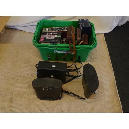 5 - 3 Sets of binoculars, radios and old phones...